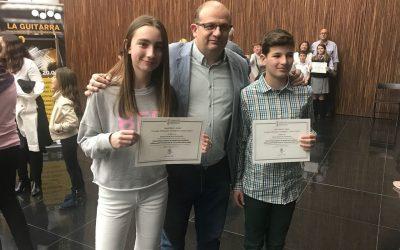 Gema Barrachina y Adrián Requena, alumnos de nuestro centro, matrículas de honor de Primaria en la provincia de Alicante