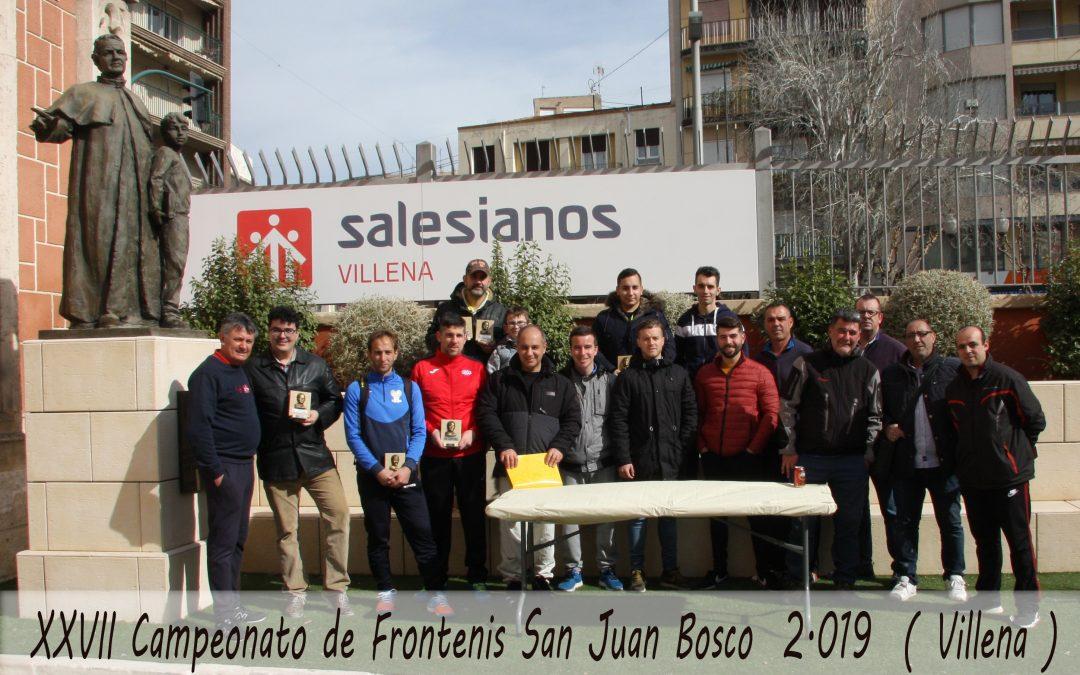 XVII Campeonato de Frontenis Don Bosco 2019